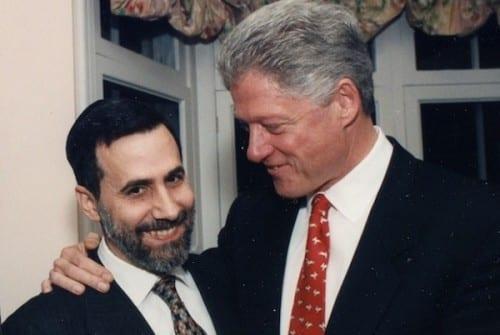 ביל קלינטון והרב מנחם גנק