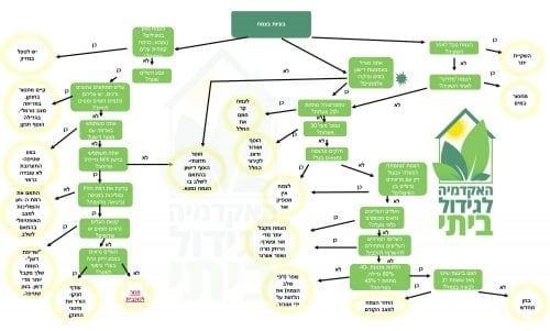 תרשים זרימה - איך לזהות בעיות בצמח