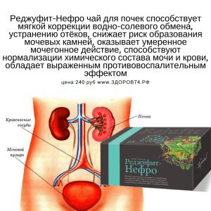Реджуфит Нефро чай для почек и мочевого