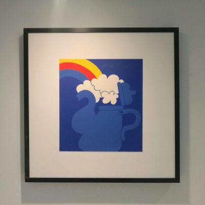 Arnoldi: Kaffekande med regnbue og skyer