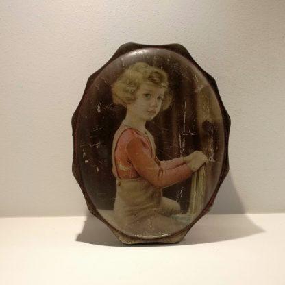 Vintage chokoladedåse med billede af prins Albert af Liege