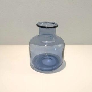 Safirblå Holmegaard vase af Per Lütken