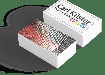 Partieller Relieflack (Visitenkarten)