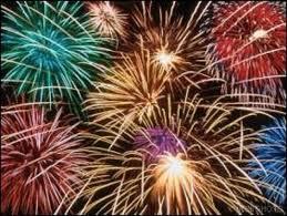 fin de fiesta con fuegos artificiales
