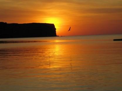 Puesta de sol con ñ de España Menorca 2