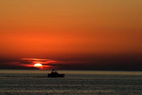 Puesta de sol con ñ de España Menorca 3