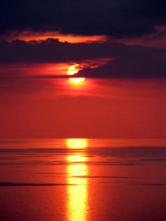 Puesta de sol con ñ de España Valldemosa Mallorca