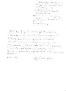 Благодарность Поправко