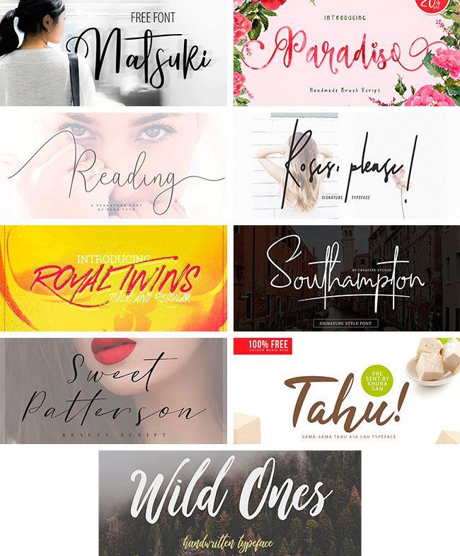 Download Pack de 25 TIPOGRAFÍAS SCRIPT 2018 Diseños Creativos