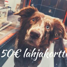 Eläinfysio.fi lahjakortti palveluihin tai verkkokauppaan, 50€