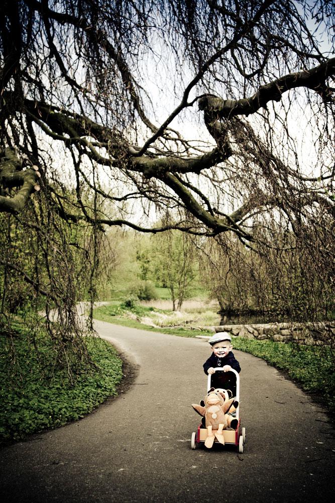 børnefotos i naturen ved Esbjerg