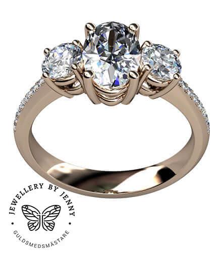 diamantring oval diamant
