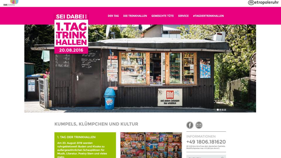 Webseite Tag der Trinkhalle