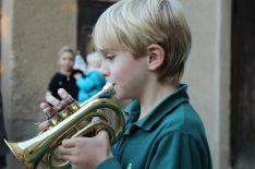 Emil an der Trompete