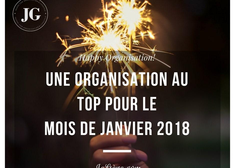 Organisation Janvier 2018
