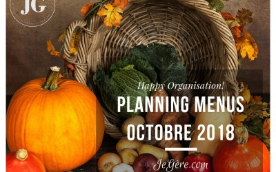 Planning Menus Octobre 2018