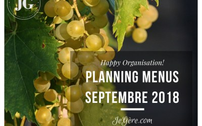 Planning Menus Septembre 2018