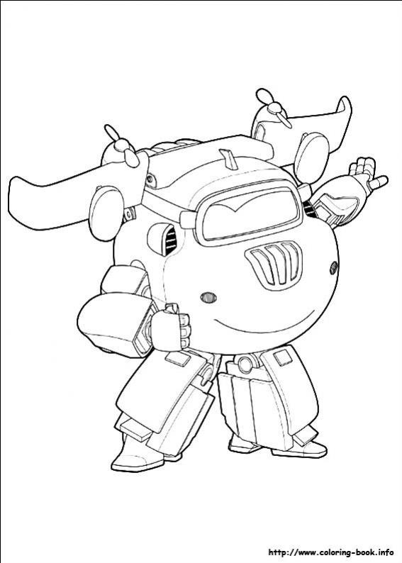 Desenho De Donnie Dos Super Wings Para Colorir
