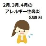 2月、3月、4月に悪化するアレルギー性鼻炎の原因は1つだけじゃない可能性が!