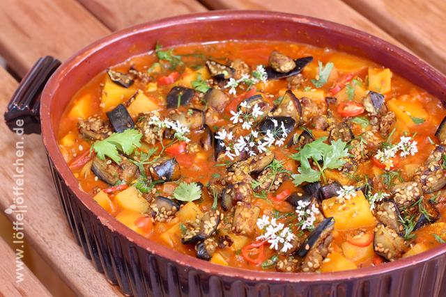 Kartoffel-Auberginen-Curry