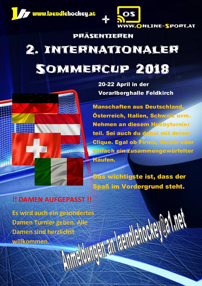 Sommercup kommendes Wochenende in Feldkirch!!