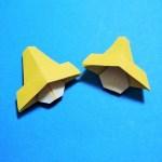 折り紙で作れる立体ベル(鐘)の折り方・作り方|クリスマスの飾り付け