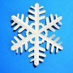 折り紙で雪の結晶の切り絵の折り方と切り方|クリスマス飾り
