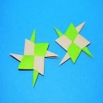 折り紙を4枚使ってかっこいい手裏剣の作り方を画像と動画で紹介