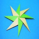 折り紙を8枚使ったかっこいい八方手裏剣の折り方と作り方