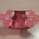 折り紙で作るひな祭り用の雛あられハート箱の折り方・作り方