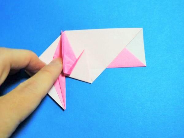 折り紙でお正月の鶴の箸袋を作る折り方・作り方|画像と動画で説明