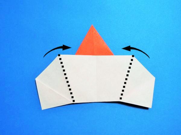 折り紙でくまさんサンタクロースの作り方|クリスマス飾りの折り方