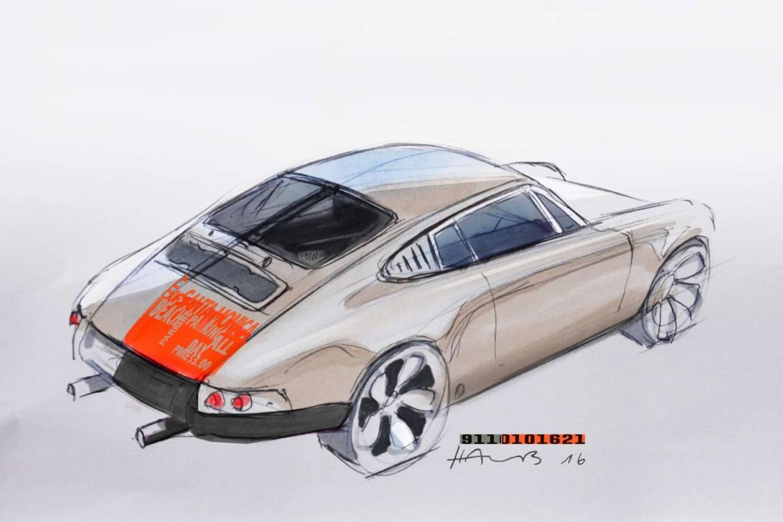 Designskizze zum 911er von Markus Haub