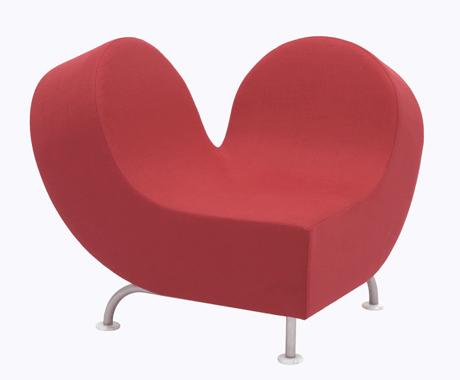 かわいいピンクのハート型ソファ!JOLY COEUR