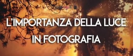 L'importanza della luce in fotografia