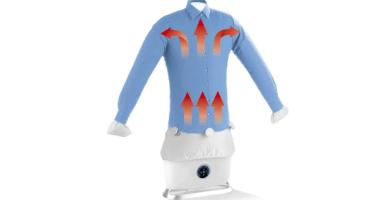 CLEANmaxx Plancha automática con función de vapor   Seca y alisa camisas y blusas