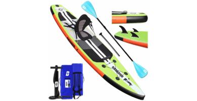 Tabla Hinchable Paddle Surf Sup Paddel Surf Bomba, Asiento de Kayak