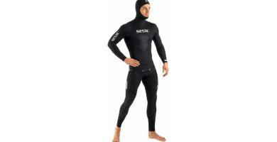 SEAC Black Shark - Traje de Neopreno para Pesca Sub y Apnea de 3 mm