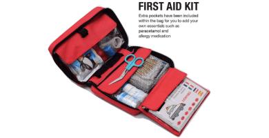 HONYAO Botiquín de Primeros Auxilios, Mini Kit de Supervivencia - Bolsa Médico de Emergencia Completo