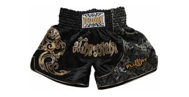 FLUORY Muay Thai Shorts, MMA Fight Shorts Ropa de Entrenamiento Jaula Lucha Grappling Artes Marciales