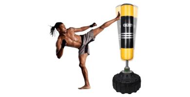 Uking Base y Columna de Rebote de 360 °,para Kick Boxing, Artes Marciales Mixtas