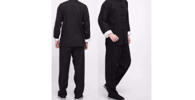 CHIYA-TAICHI Bruce Lee Vintage Chino Wing Chun Kung Fu Uniforme Algodón Seda Artes Marciales