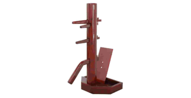 Wing Chun Wooden Dummy with Base Walnut Color With Form And Cover