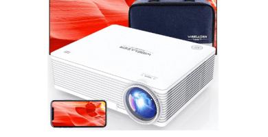 WISELAZER Proyector, Proyector WiFi Que Protege Sus Ojos con Nativo 1920 * 1080p, Soporta 4K
