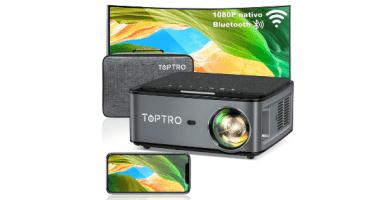 Proyector WiFi Bluetooth, TOPTRO 7500 Lúmenes Proyector Full HD 1920x1080P Nativo Soporta 4K