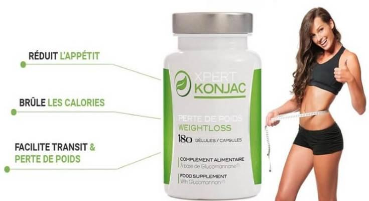 Formule exclusive XPERT Konjac aide pour la perde du poids, pour maigrir