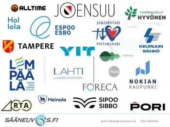 Keli ja energiasää asiakkaitten logoja