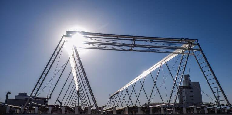 Fresnel-collector system by the company Industrial Solar