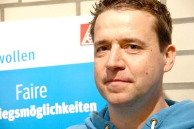 Boris Reinhold, Betriebsrat bei der WEA Service Ost GmbH