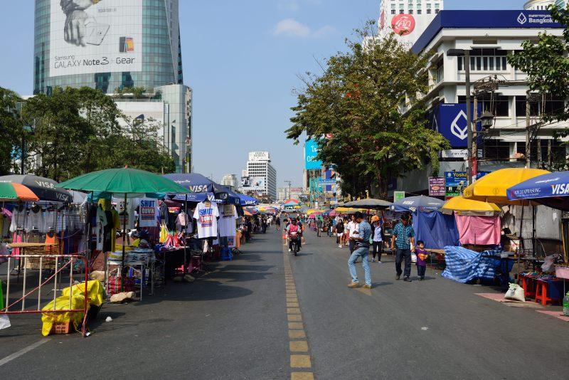 BKK伊勢丹前付近のデモ